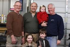 Bob, Jim, and Dan with the fam!
